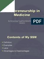 Entrepreneurship in Medicine