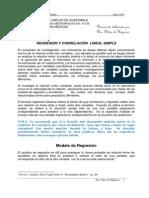 8. Regresion y Correlacion, Segundo Documento, 2015