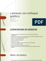 Carreras Con Enfoque Político Diapositivas Mm