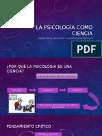 La Psicología Como Ciencia