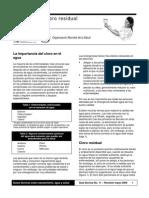 Organizacion Panamericana de Salud Medicion de Cloro