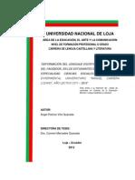 """DEFORMACIÓN DEL LENGUAJE ESCRITO, POR INFLUENCIA DEL FACEBOOK, EN LOS ESTUDIANTES DEL BACHILLERATO, ESPECIALIDAD CIENCIAS SOCIALES, DEL COLEGIO EXPERIMENTAL UNIVERSITARIO """"MANUEL CABRERA LOZANO"""", AÑO LECTIVO 2011 – 2012"""