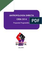 Programa Antropología Directa (CEEA 2014)