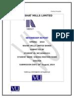 Internship Report of Nishat Mills Ltd.