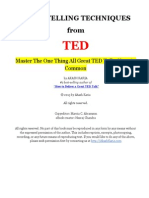 Ted Talks Storytelling Techniques