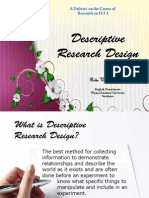 Lecture 6-Descriptive Research Design