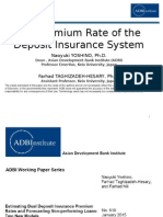 Fair Premium Rate of the Deposit Insurance System