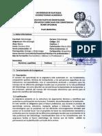 Sylabo de Microbiología
