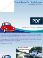Cars For Rent in Malaysia