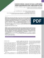 Colesterol dietario, consumo de huevo y perfil lipídico en adultos