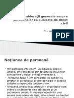 Çurs. 1 Persoana Subiect de Drept Civil