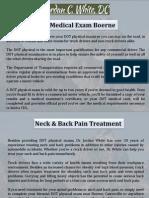 Dot Medical Exam Boerne