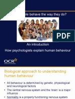 69002 Unit g544 Approaches to Explaining Human Behaviour Presentation