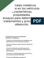 Materiales Metálicos Utilizados en Los Vehículos