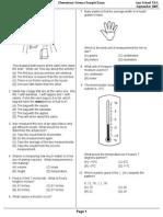 Elementary Science Sample Exam