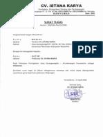 Surat Tugas - Pelaksana Lapangan