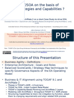 TOGAF 9 and Archimate 2.0 for Aligning SOA With Business Strategies and Capabilities