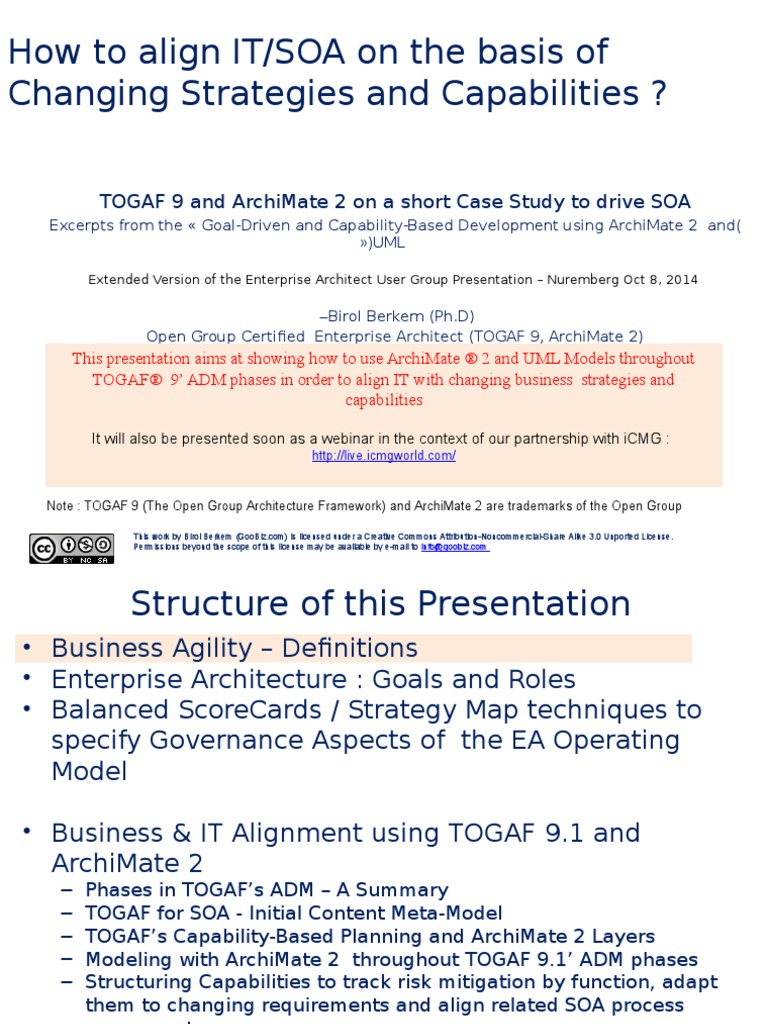 Togaf 9 and archimate 20 for aligning soa with business togaf 9 and archimate 20 for aligning soa with business strategies and capabilities enterprise architecture service oriented architecture 1betcityfo Choice Image