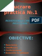 Rezistoarele chimice peliculareSG
