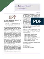 Trinity Newsletter Lent 2010