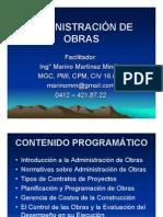 Material de Apoyo Administarción de Obras Dic 2014