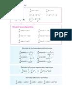 Formulas de Derivación Basicas