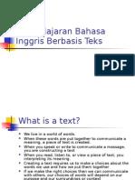 Pembelajaran Bahasa Inggris Berbasis Teks