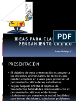 ideas para clases con pensamiento critico