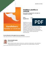 Handlebars Plantillas en Javascript
