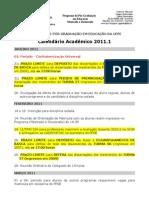Calendario Academico 2011 1