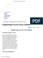 Engineering Services Exam Syllabus 2012-2013