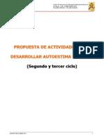 Propuesta de ACTIVIDADES Autoestima 2º Y 3º CICLO