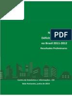 Déficit Nota Técnica - DH 2012