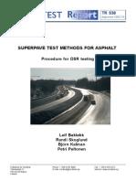 NT TR 538_Superpave Test Methods for Asphalt_Nordtest Technical Report