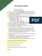 New USA VISA Checklist