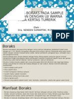 Analisis Boraks Pada Sample Makanan