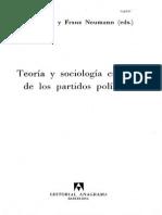 Teoria y Sociologia Criticas de Los Partidos Politicos