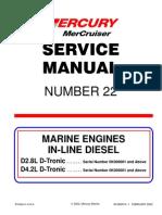 Service Manual #22 4.2 D-Tronic Diesel