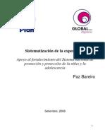SISTEMATIZACION DE LA EXPERIENCIA EN PARAGUAY - SETIEMBRE 2008 - GI - PORTALGUARANI