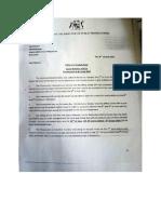 La lettre du DPP à la magistrate Wendy Rangan