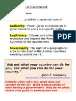 Characteristics of Government