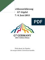 G-7-Abschlussdokument 2015