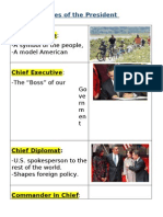 Presidential Roles Notes