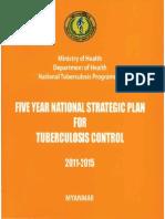 National TB Strategic Plan 2011 2015