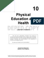 PE Grade 10- Learning Material