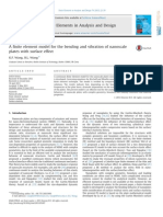 A Finite Element Model for the Bending and Vibration of Nanoscale Plates With Surface Effect
