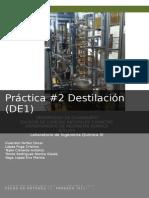 Practica Columna de Destilacion Menor