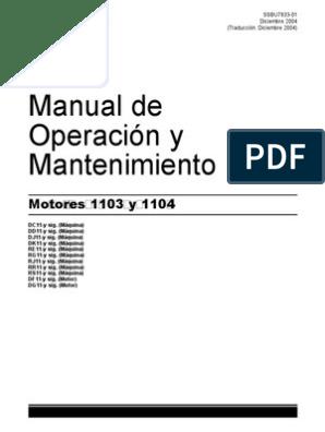 Perkins 1103 y 1104 motores de serie Taller reparación Manual CD Pdf