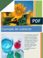 Exemple de Subiecte MCS