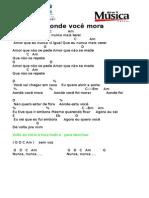 783 - Aonde Voce Mora - Reggae - Batida 400
